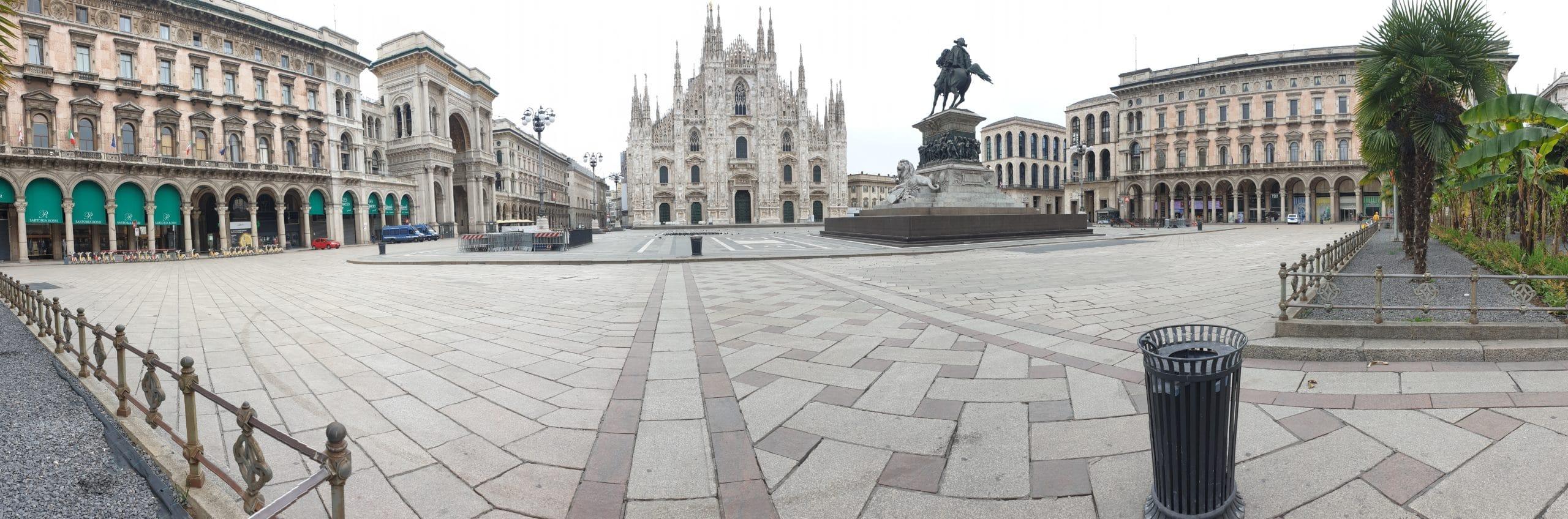 Piazza del Duomo di Milano 31 marzo 2020