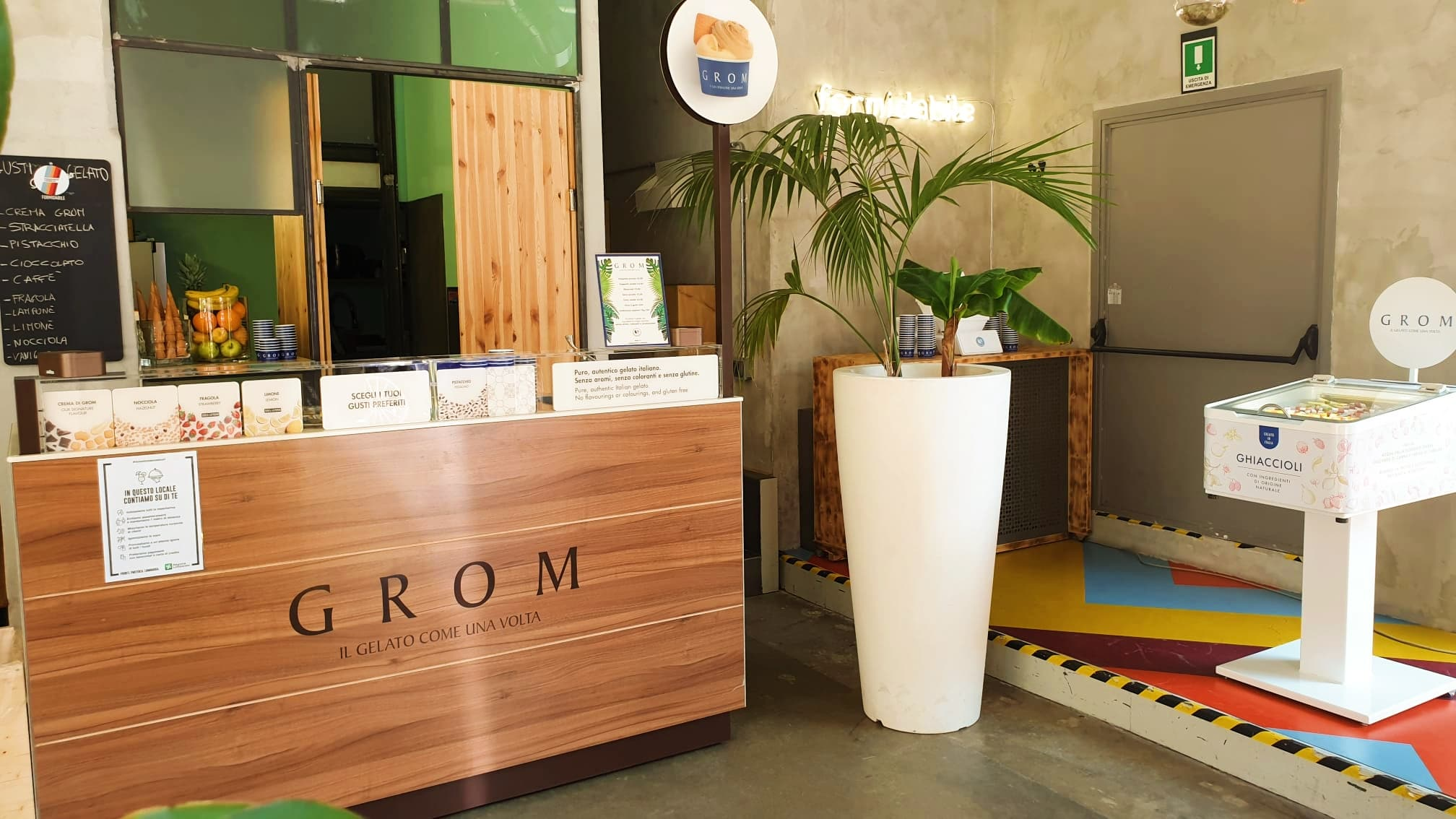 "Il corner di ""Grom - Il gelato come una volta ""all'interno di Formidabile Lambrate"